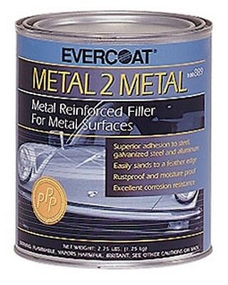 Fibreglass Evercoat 889 Metal-2-metal Aluminum Reinforced Filler - Quart 2