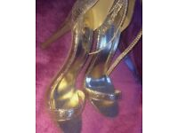 Gold linzi heels