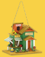 Farmer's Market Birdhouse With Cleanout Hole Brand New