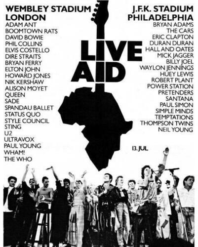 1985 LIVE AID Wembley Stadium Queen Freddie Mercury 8 x 10 Glossy Photo Poster