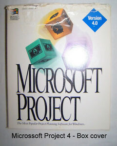 Microsoft Project 4, 1994, complete project management software