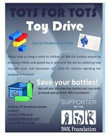 Toy drive/bottle drive for IWK