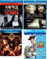 4 Blu-ray Toy Story, The Hunger Games, The Town, Brothers.