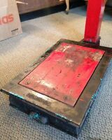 Industrial, scale, vintage, loft, upcycle, red, antique