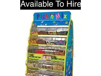 Pic N Mix stand / Candy Sweet Cart Sweetie HIRE for parties :: chocolate fountain :: candy floss ::