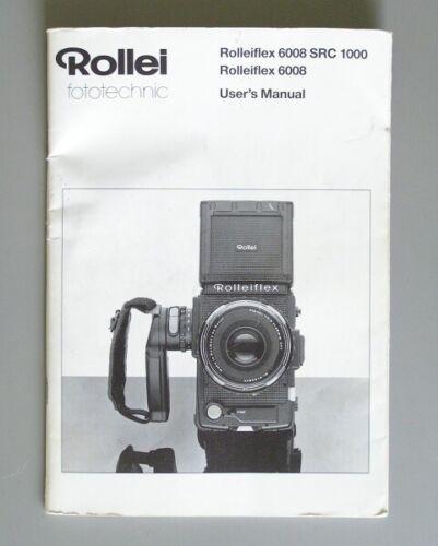 Rolleiflex 6008 SRC 1000 Instruction Manual original