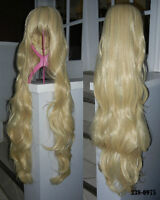 BRAND NEW Super Long 90cm Deluxe Platinum Blonde Cosplay Wig