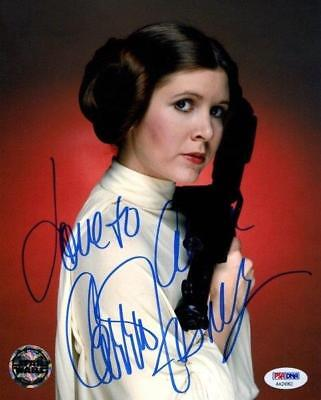 Reprint   Carrie Fisher Star Wars Princess Leia Signed 8 X 10 Photo Poster