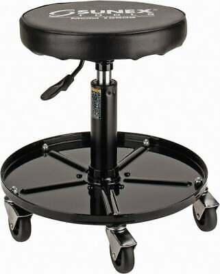 Sunex Tools 15-12 To 20-12 High Adjustable Height Stool Vinyl Seat Black