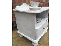 Shabby chic bedside cabinets
