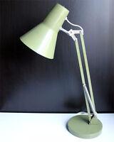 DANISH LYSKAER GRASSHOPER GREEN ADJUSTABLE DESK LAMP