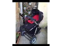 icandy Apple buggy with raincover & cosy toes