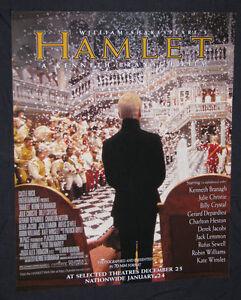 HAMLET ORIGINAL MOVIE POSTER, KENNETH BRANAGH, 1996