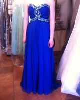 Prom Dress Royal Blue  size small OBO