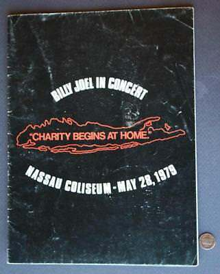 1979 Billy Joel New York Nassau Coliseum ON SITE Charity Concert Program-Poster!