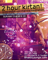 SPECIAL 2-hour Kirtan Musical Meditation + Vegan Feast