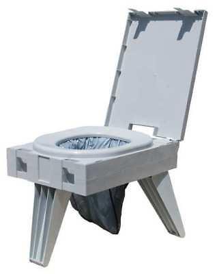 CLEANWASTE D119PET Portable Toilet, Plastic, Wt. 8.43 lb