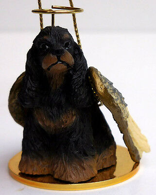 COCKER SPANIEL, BRN/BLK ANGEL DOG ORNAMENT CONV. CONCEPTS,TINY ONES,ITEMDTA15F
