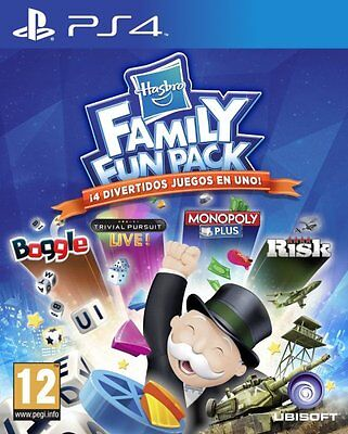 Hasbro Family Fun Pack PS4 PAL ESPAÑA NUEVO Monopoly Trivial Pursuit Risk Boggle