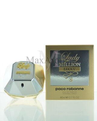 Paco Rabanne Lady Million Lucky Perfume  Eau De Parfum 2.7 OZ 80 ML Spray For... for sale  Shipping to India