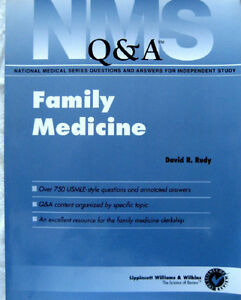 NMS Family Medicine Q & A (USMLE,MCC,test,exam,board,guide) London Ontario image 1