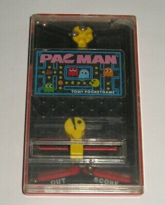 *Vintage* TOMY PAC MAN POCKET GAME * USED BUT WORKS GREAT * NO RESERVE CHEEP SHP