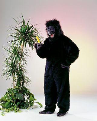 Komplett Kostüm Gorilla schwarz Zoo Affe Karneval Tier Kostüm Fasching Party neu