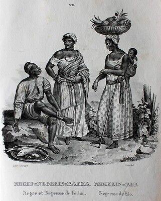 Neger Ananas Rio Bahia Negre Brasilien Salvador Tracht Sklaven Kreolen Brazil