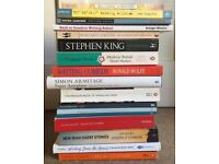 Mixed lot of creative writing, short story and poetry books for sale