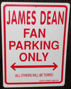 James Dean Driveway/Fence sign, add to your collection
