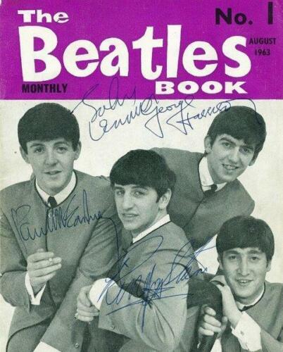 REPRINT - BEATLES Paul Mccartney - Lennon Signed 8 x 10 Glossy Photo Poster RP
