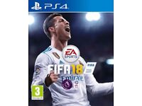 Ps4 FIFA18. New, sealed, with receipt
