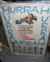 vintage 1958  The Last Hurrah  Movie poster  from old theatre