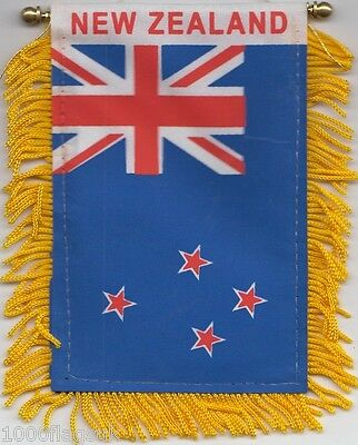New Zealand Flag Hanging Car Pennant for Car Window or Rearview Mirror