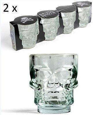 �ser 8 Stück Skull Totenschädel Schnapsglas Shot Pinneken NEU (Totenkopf Shot Glas)