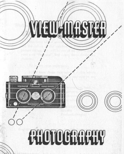 View-Master and View-Master Flash Instruction Manual photocopy