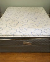 Sealy Posturedic Ensemble Pillow Top Mattress and Box spring