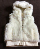 Gymboree faux fur vest size 7/8