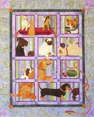 Java House Quilts Muchas Poochas Dog 9-Pattern BOM Applique Quilt Pattern Set