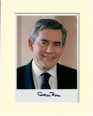 GORDON BROWN LABOUR PARTY PRIME MINISTER PP MOUNTED 8X10 SIGNED AUTOGRAPH PHOTO