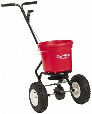 Made In Usa 50 Lb. Capacity Polyethylene Walk Behind Broadcast Spreader 13 I...