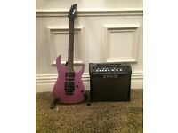 Ibanez guitar with Amplifier