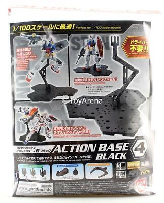 Gundam Action Base 4 Black Stand Model Kit For  HG/ 1/144/ RG/ MG/ 1/100 100 Action Base