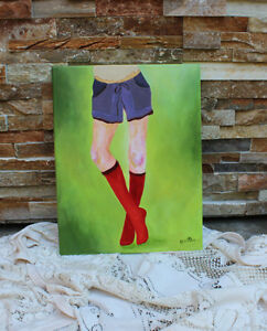 Original Fashion Illustration Painting West Island Greater Montréal image 1