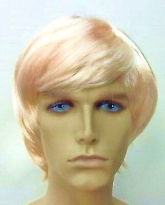 Blonde Male/Guy/Mens Fancy Dress Wig  (Blonde Surfer Dude)
