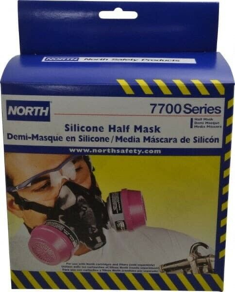 North 7700 Series 770030L Half Mask Resusable Respirator - LARGE - WITH FILTERS