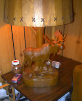 Moose Lamp | Carved by Andre Dube