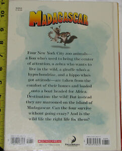Qty 2 x Madagascar Movie Story Large Hard Cover Book London Ontario image 2
