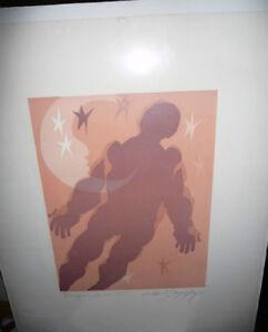 "Holocaust Art, Aba Bayefsky ""Legends"" 1971 Original Litho Signed Stratford Kitchener Area image 1"
