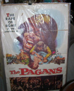 Vintage Movie Theatre Lobby Poster  The Pagans